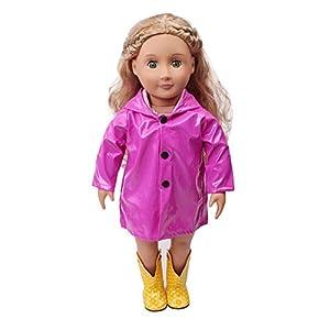 Regen Kleidung Regenjacke mit Kapuze für 18 Zoll unsere Generation American Girl Puppe Zubehör Mädchen Spielzeug Weihnachten Geburtstagsgeschenk