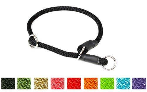Mystique® Halsband Nylon rund mit Zugbegrenzung 8mm rot 55cm