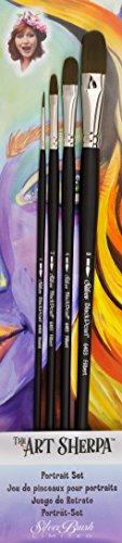 Art Sherpa Portrait Brush Set 4/Pkg- Jackson Sherpa