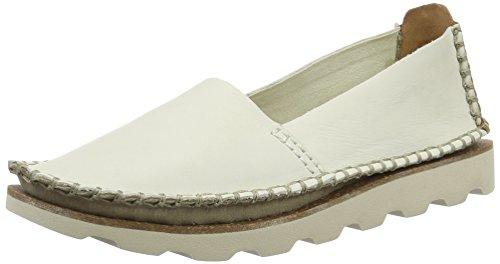 Clarks Damara Chic, Mocassini Donna Bianco (White Leather)