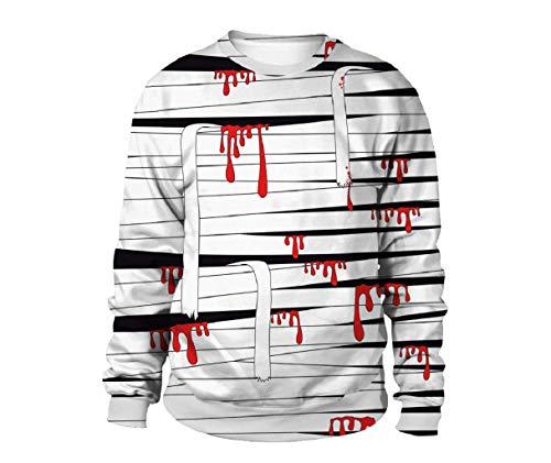 stüm Kostüm Bandage Monster Thema Party Kleid up Zubehör für Erwachsene (schwarz und weiß) ()
