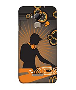 PrintVisa Designer Back Case Cover for Coolpad Note 3 (Image Abstract Texture Man Earphones Play)