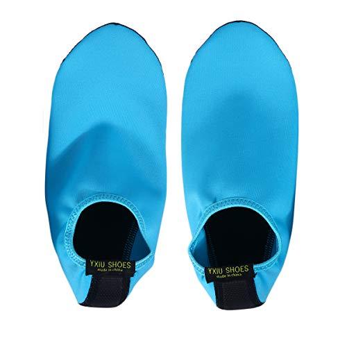 nende Wasser Schuhe Aqua Socken Leichte Tauchsocken Neoprenanzug Rutschfester Badestrand für Männer Frauen (Blau XL / 40-41) ()