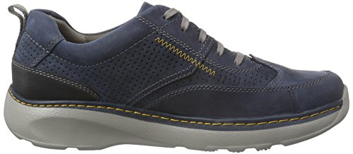 Clarks Charton Mix Herren Derby Schnürhalbschuhe Blau (Navy Leather)