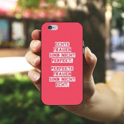 Apple iPhone X Silikon Hülle Case Schutzhülle Frauen Sprüche Frau Silikon Case schwarz / weiß