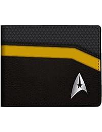Star Trek Metal Logo and Gold Trim Bi-Fold Wallet
