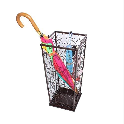 MGZDH Paragüero metálico con Bandeja de Goteo Desmontable para decoración de hogar y Oficina (21 * 21 * 55) Opcional
