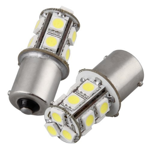 TOOGOO(R) 2 x 1156 BA15S 13 LED 5050 SMD Feux Eclairage Ampoule Arriere Recul Blanc 12V