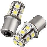 2x 1156BA15S 13LED 5050SMD Tail Tournez Frein lumière lampe Blanc 12V