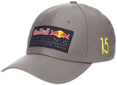 Kurze Crown Caps (Red Bull Racing Unisex Aston Martin Lifestyle Stripe Grey Baseball Cap, Blau Navy, (Herstellergröße: One Size))