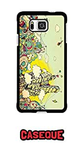 Caseque City Art Back Shell Case Cover for Samsung Galaxy Alpha