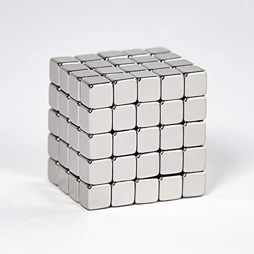 Premium Neodym Magnet Würfel von Centra24 - 100 Stück starke Mini Magnete 5 x 5 x 5 mm, N35 - für...