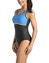 Gwinner Badeanzug Sportbadeanzug Schwimmanzug Bademode Damen einteilig sehr bequem und elastisch, mit weichen, herausnehmbaren Körbchen, aus hochwertigem Material made in EU Marietta