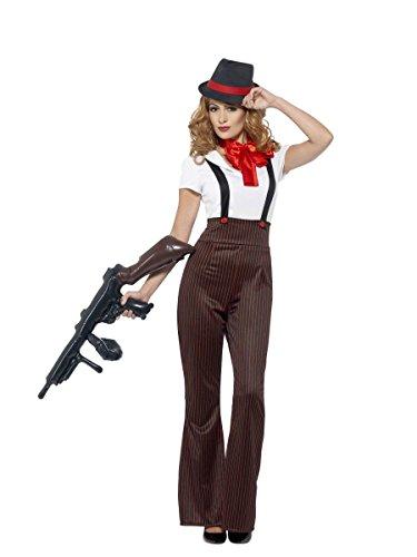 Kostüm Glam Hexe - Smiffys Damen Kostüm 20er Jahre Gangsterbraut Karneval Fasching Gr.S