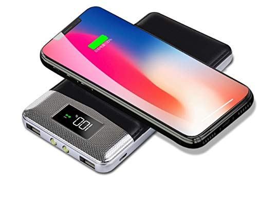50000mAh Externer Wireless PowerBank Akku / 3 in 1 Kabellose PowerBank mit LCD Digital Display und Dual Input - Digital Wireless Lcd