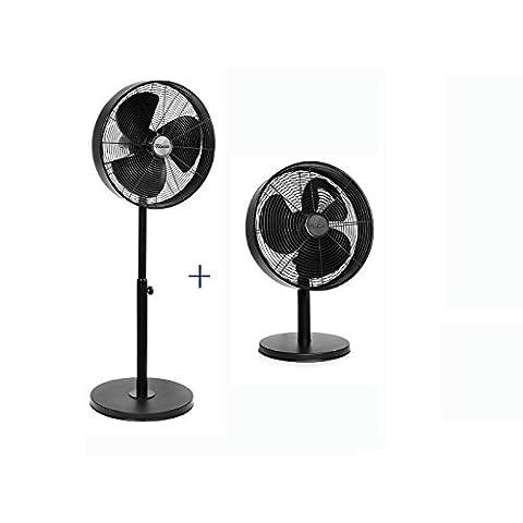 Set-Ventilador-de-pie-40-cm-de-dimetro-Ventilador-de-mesa-Dimetro-30-cm-negro-oscilante