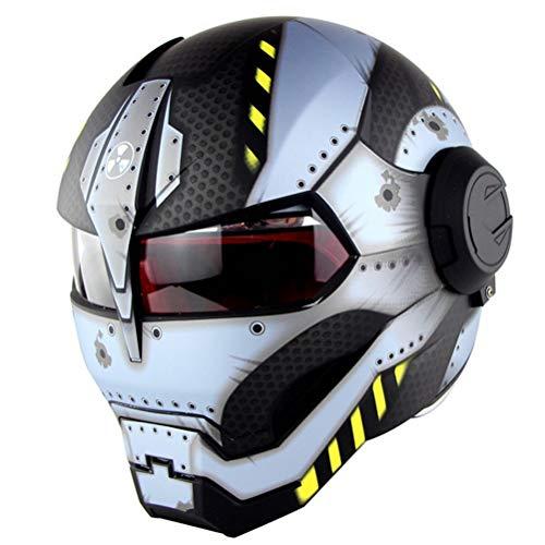 Adult Modular Motorradhelm Abs Material Full Face Motorradhelm Anti Fog Flip Up Retro Cruiser Chopper Racer Motocross Helm Geschenk