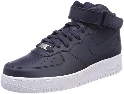 Nike Air Force 1 Mid '07 LE, Scarpe da Basket Uomo, Blu (Obsidian/Obsidian-White 415), 44 EU