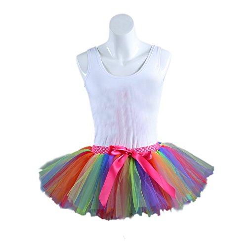 Honeystore Damen's Kurz Retro Petticoat Rock Ballett Blase 50er Tutu Unterrock Tütü Abschlussball Tanzkleid Party Minirock Tüllrock One Size (Dornröschen Kostüme Ballett)
