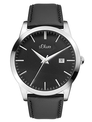 s.Oliver Time Reloj Analogico para Unisex de Cuarzo con Correa en Cuero SO-3396-LQ