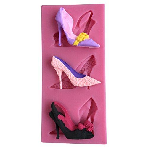 LYNCH Zapatos tacón alto Molde silicona 3D molde