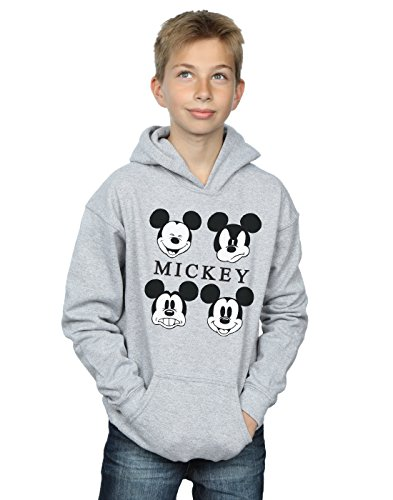 Disney Jungen Mickey Mouse Four Heads Kapuzenpullover 7-8 Years Sport (Hoodies Cartoon Charakter)