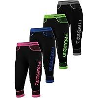 fittech da donna ACTIVE Termo-Attiva Seamless 3/4Capri Leggings _ Fitness, ciclismo, corsa, Black/Grey, S