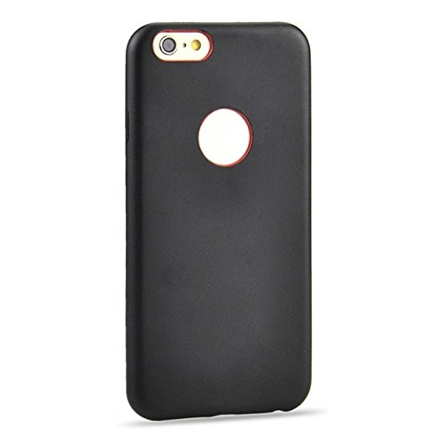 Phone case & Hülle Für IPhone 6 Plus / 6s Plus, 0.3mm Ultradünne PU-Leder-Rückseiten-Abdeckungs-Schutz-Fall ( Color : Brown ) Black