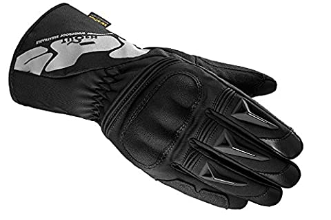 Motorbike Motorcycle Spidi IT Alu-Pro WP Leather Gloves Waterproof Riding Touring Glove -Black/Grey-Special Order - Grey - 4XL