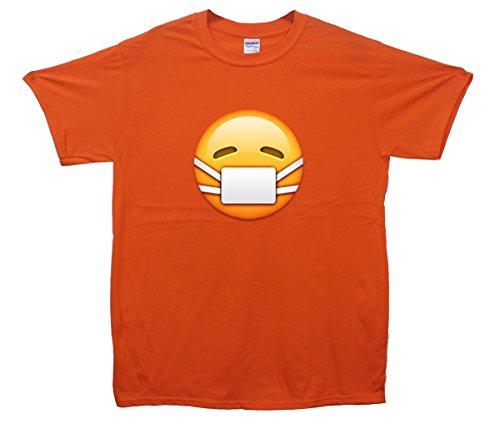Surgical Mask Face Emoji T-Shirt Orange