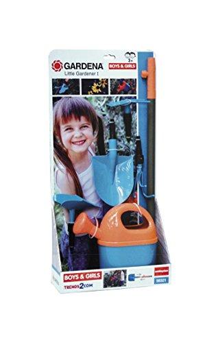Chicos Gardena - Little Gardener I, Set de 5 Herramientas de jardín con Mango Largo Intercambiable 89131