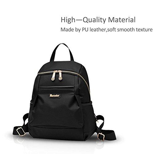 Einfache Oxford Wasserdicht Cloth Versatile Nicole New Girl Schule Beutel schwarz Doris Schulter schwarz Rucksack waw8XHqZ