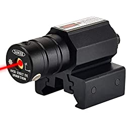 Greyghost Viseur Laser, Visée Laser Rouge Tactique, Viser Arme Airsoft Faisceau Laser Exterieur, pour Carabine Pistolet Airgun