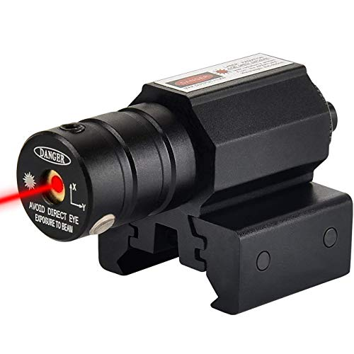 Mirino Laser, Greyghost Punto Rosso Mirini Tattico Puntatore Laser Softair, Sight Tactical Raggio Laser per Fucile Pistole Caccia Carabina Aria Compressa