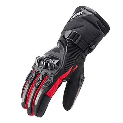 Guanti motociclistici invernali impermeabili mantenere caldo ciclismo locomotivo Cross Country Full Finger Touchscreen Motorbike Guanti Uom