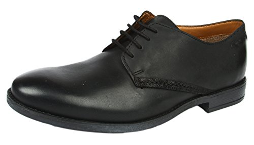 ClarksNovato Plain - Scarpe stringate Uomo , Nero (Nero (Black Leather)), 44