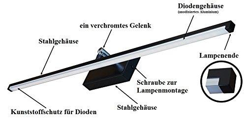 Wandlampe 90 cm Warmweiß MOD-B Bilderleuchte Beste Qualität Designer Lampe Bildleuchte LED (Schwarz) - 5
