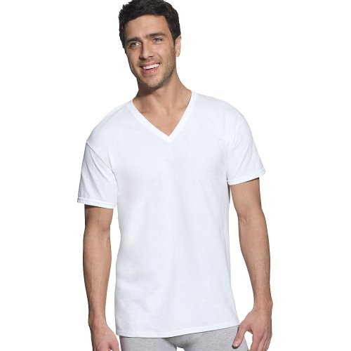 hanes-para-hombre-diseno-clasico-de-color-blanco-cuello-de-pico-t-shirt-blanco-blanco-m