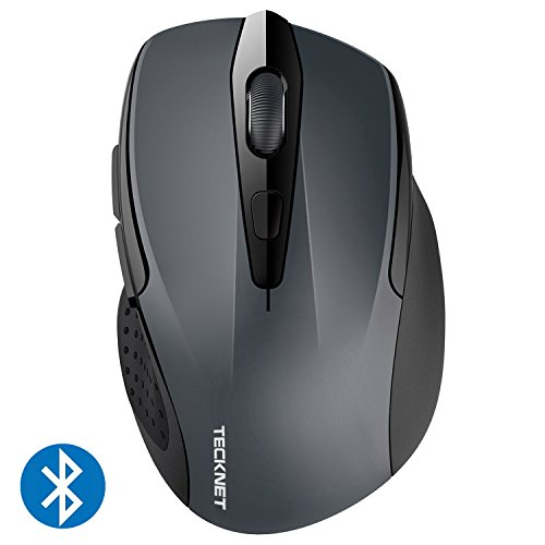 TECKNET Bluetooth Maus, Kompakte Wireless Kabellose Bluetooth Mouse, 5 verstellbare DPI Level, bis zu 2600 DPI, 12 Monate Batterielaufzeit -