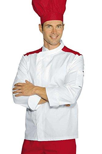 Giacca cuoco Malaga pol/cot M Rosso