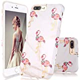 GopeE IPhone 7 Plus Case,iPhone 8 Plus Case, Marble Design Clear Bumper TPU Soft Case Rubber Silicone Skin Cover For IPhone 7 Plus (2016)/iPhone 8 Plus (2017)