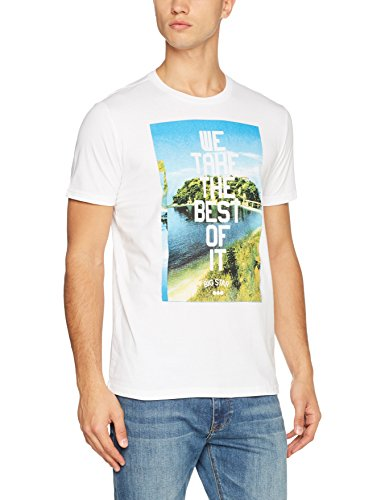 Big Star Herren T-Shirt Marin_ts_ss Weiß (White 110)