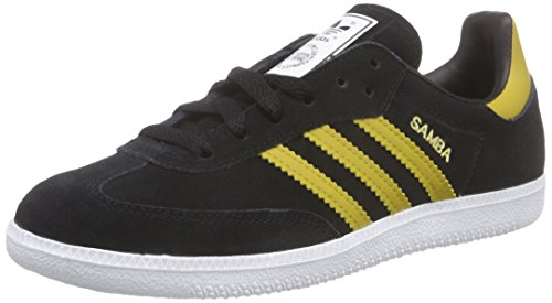 adidas Originals Samba B35214, Unisex-Erwachsene Low-Top Sneaker, Schwarz (Core Black/Spice Yellow F14-ST/FTWR White)