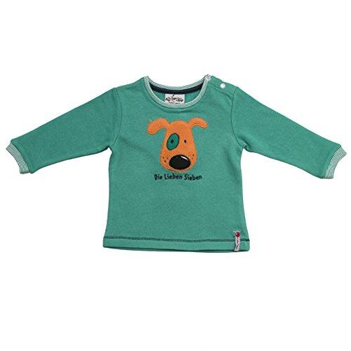 Die Lieben Sieben by Salt & Pepper Unisex Baby Sweatshirt L7 Sweat Hund, Grün (Golf Green 625), 68