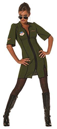 Damen Piloten-Flieger Kleid Kampfpilotin Gr.42 (Pilot Kleid Kostüme)