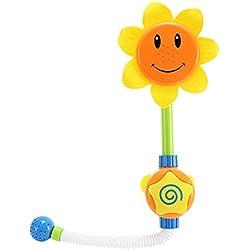 Vococal - Baño Grifo de Ducha Forma de Girasol para Niños Bebés / Aprendizaje de Juguete de Regalo,Cantidad 1 Color al Azar