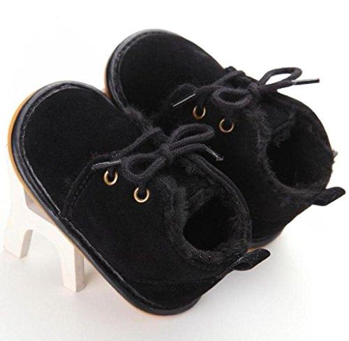 Covermason Baby Gummisohle Kleinkind Schuhe Krippe Schuhe Schneestiefel Lauflernschuhe Schwarz Mf5C0CwuE