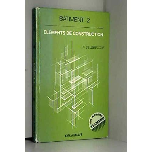 Bâtiment 2.elements de construction (ed;84)                                                   032696