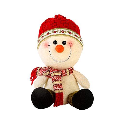 Weihnachts Deko,Wawer 10.6inch handgemachte Plüsch Puppen Weihnachtsmann Schneemann Figuren Store Fenster Dekoration Urlaub Dekoration Weihnachts Geschenke (B) -