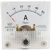 91C4clase 5.0precisión DC actual 0–50A analógico panel Meter